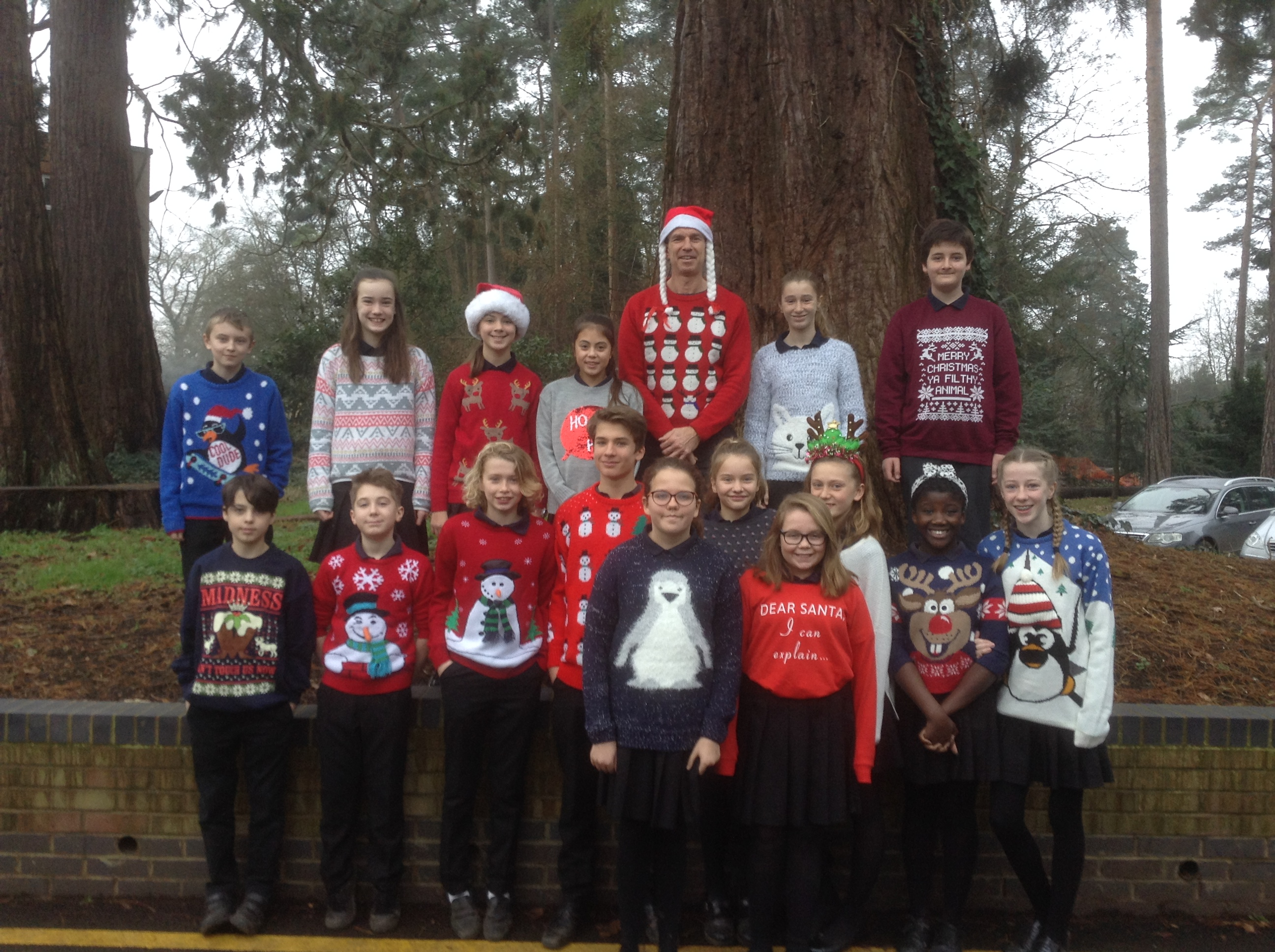 Christmas jumpers for Save The Children charity day